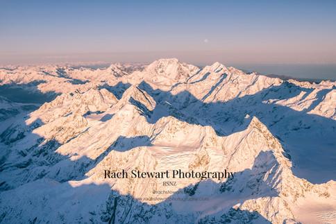 Mount Cook sunrise aerial