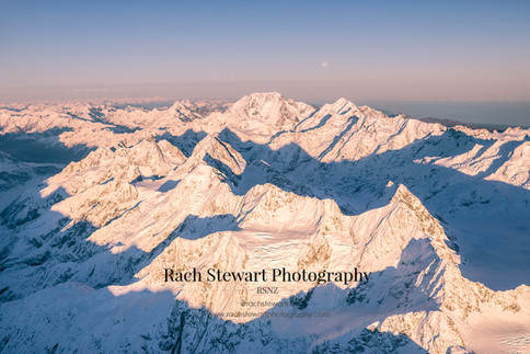Mount Cook sunrise aerial