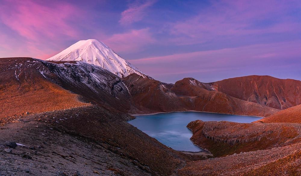 Upper Tama Lake Mount Ngauruhoe
