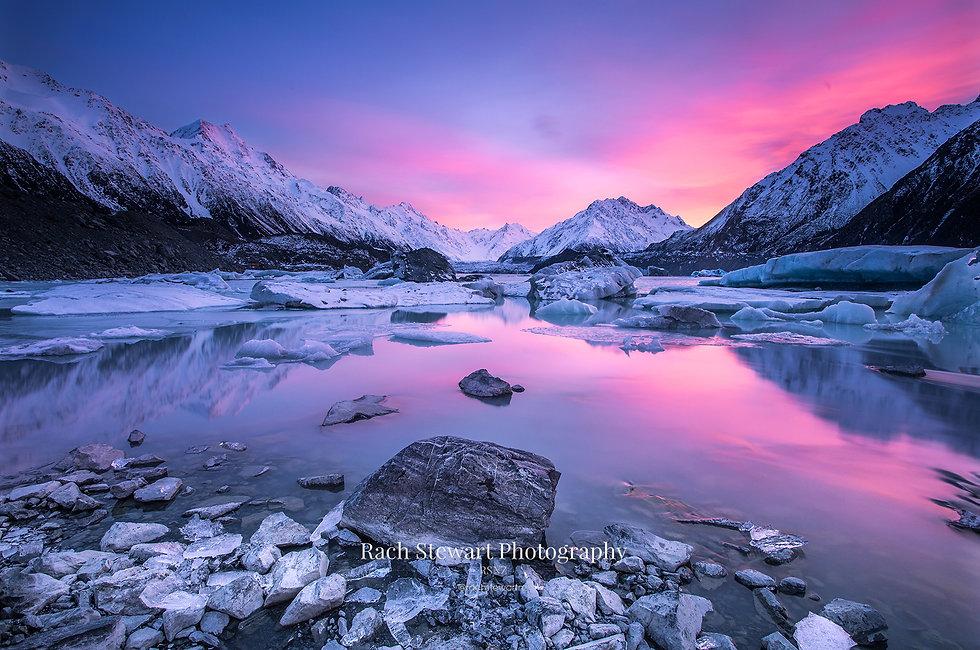 Tasman Lake sunrise