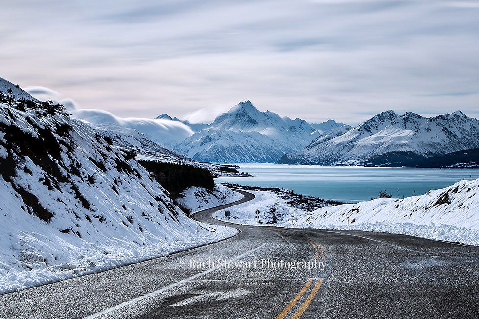Mount Cook Road winter