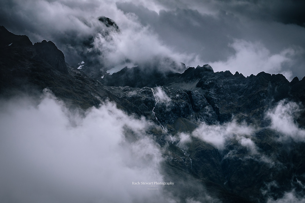 Moody views along the Routeburn Track