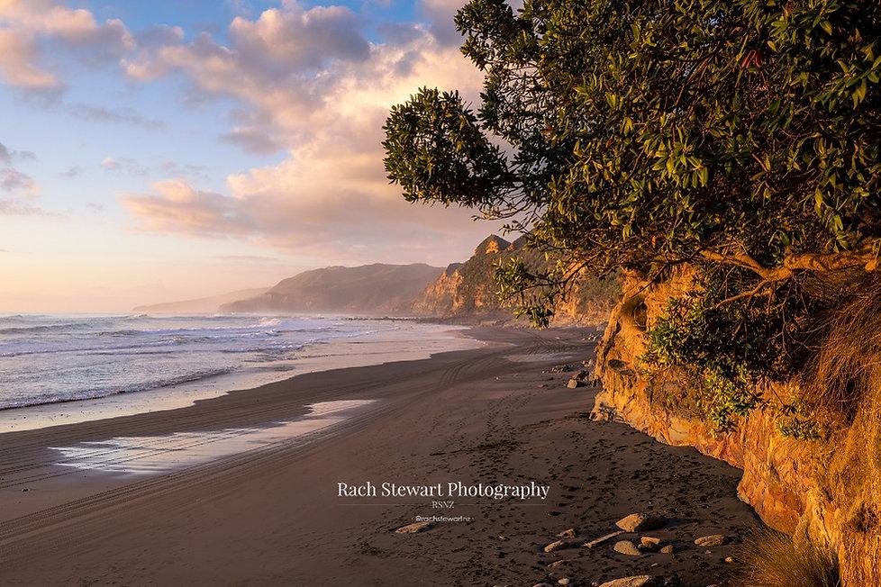 Waikawau Beach sunset