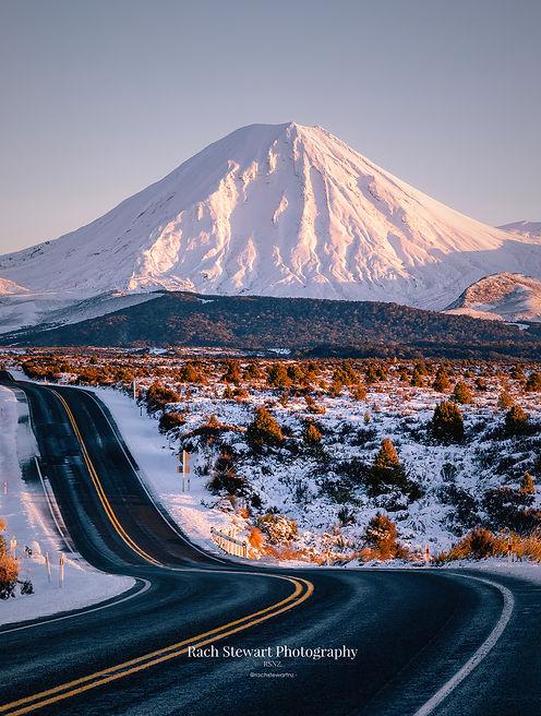Mount Ngauruhoe Winter Sunrise