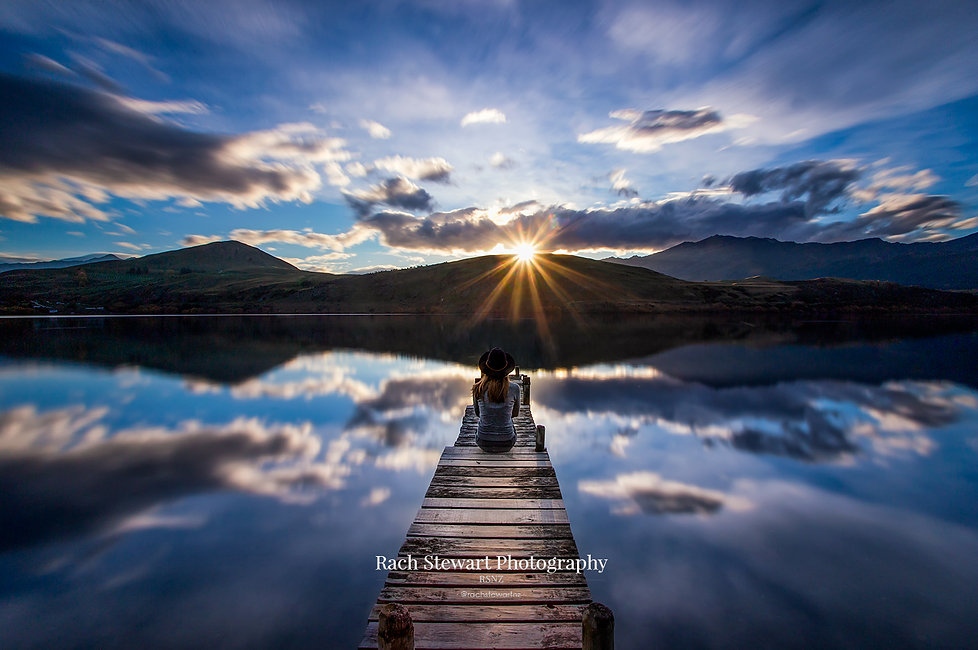 Lake Hayes Queenstown sunset