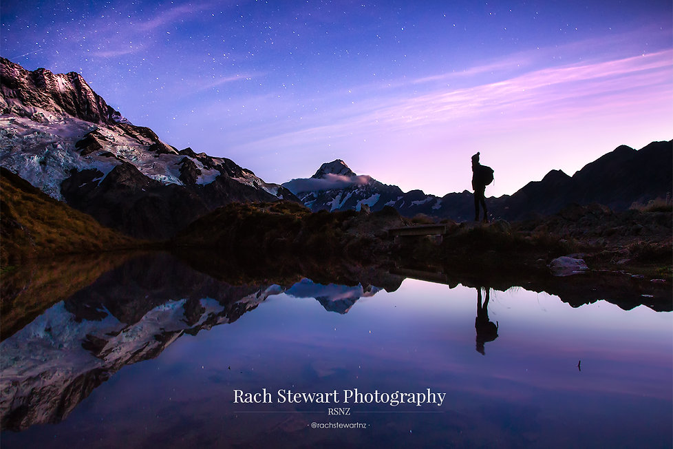 Sealy Tarns Mount Cook Twilight