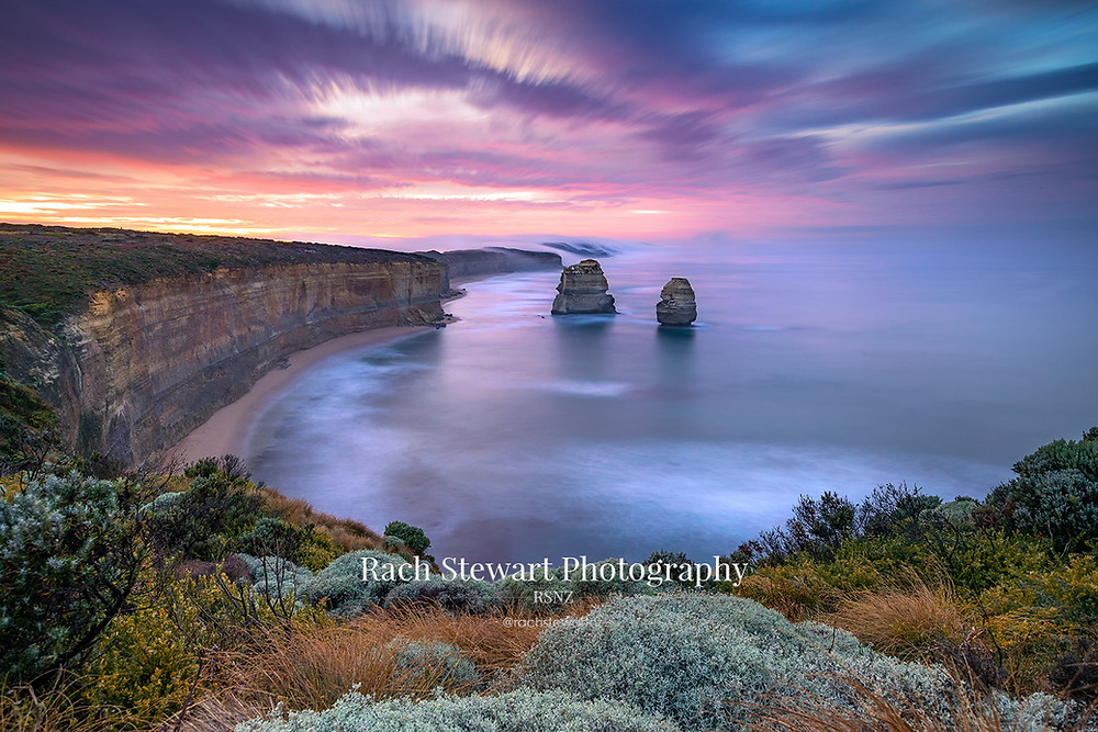 The view from the 12 Apostles lookout towards Gibson Steps