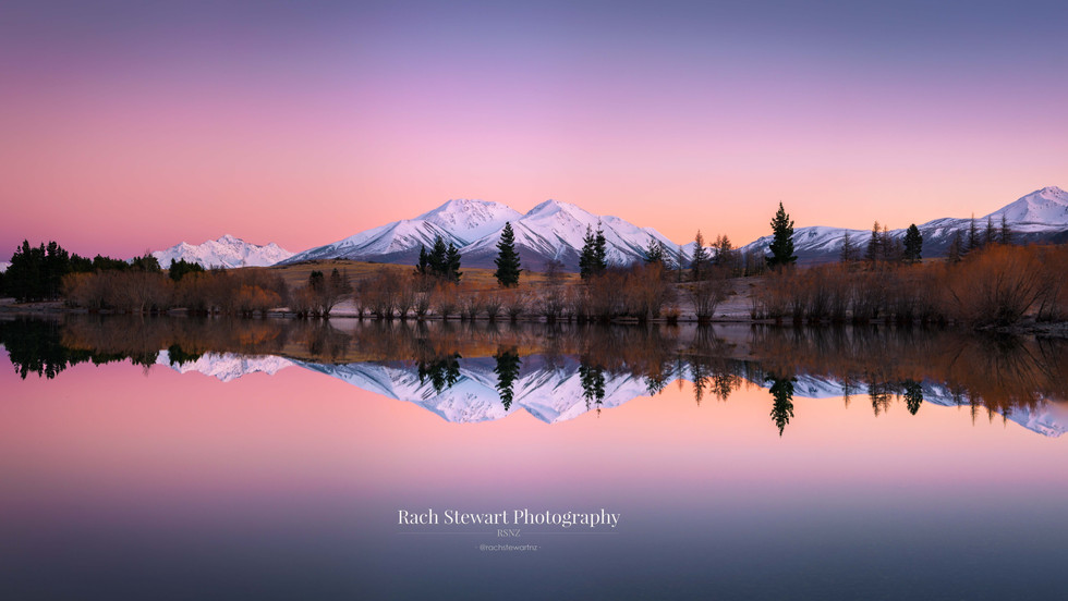 Lake Camp Sunrise Panorama