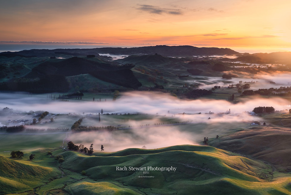 Te Mata Peak sunrise fog
