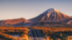 Mount Ngauruhoe sunrise road
