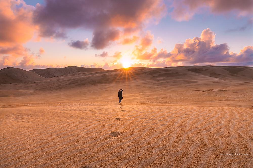 Te Paki Sand Dunes sunset