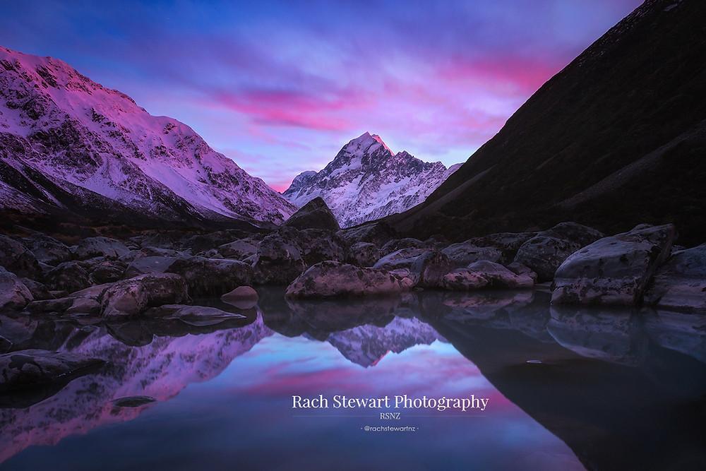 Hooker Valley sunrise Mount Cook