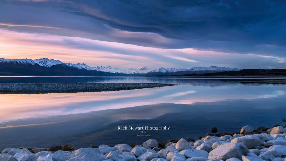 Lake Pukaki Sunset Reflections