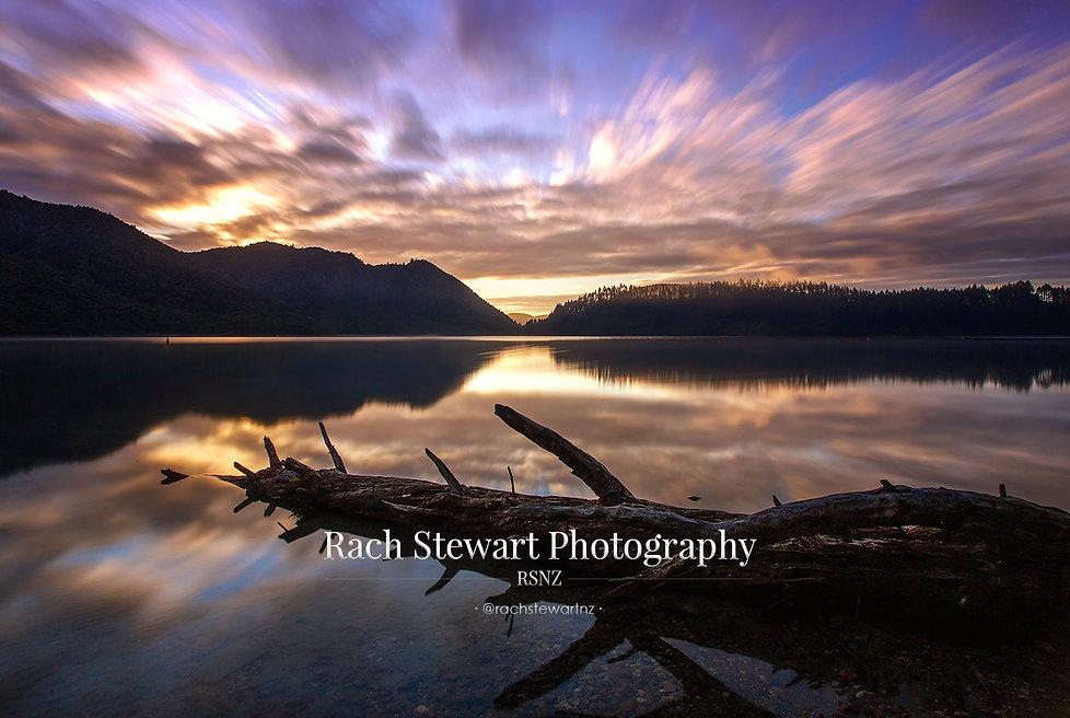 Blue Lake Rotorua sunrise