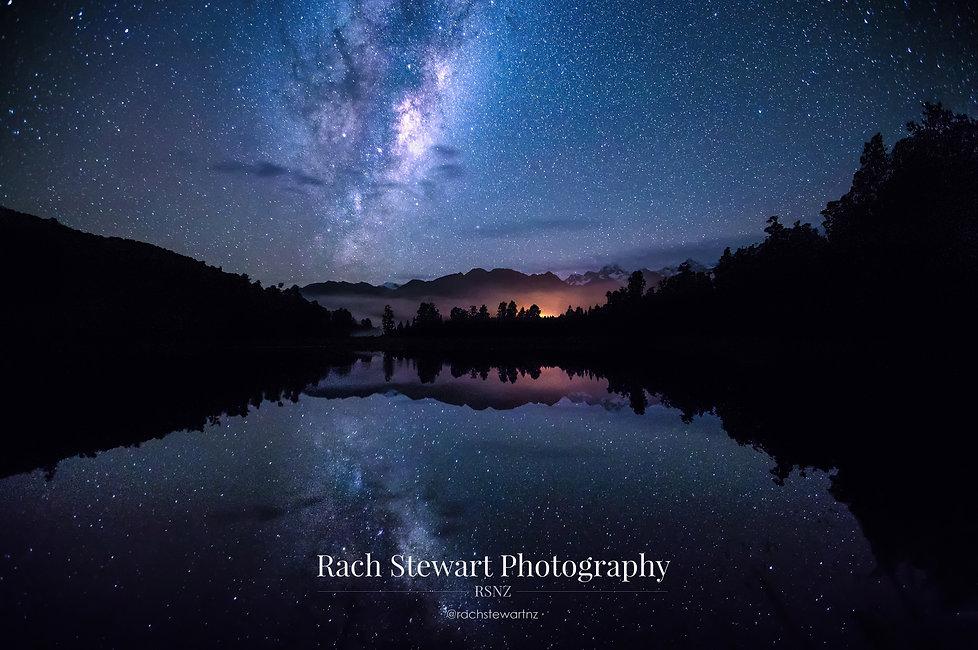Lake Matheson Milkyway astro