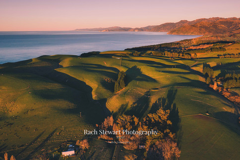 Kaikoura coast and rolling hills
