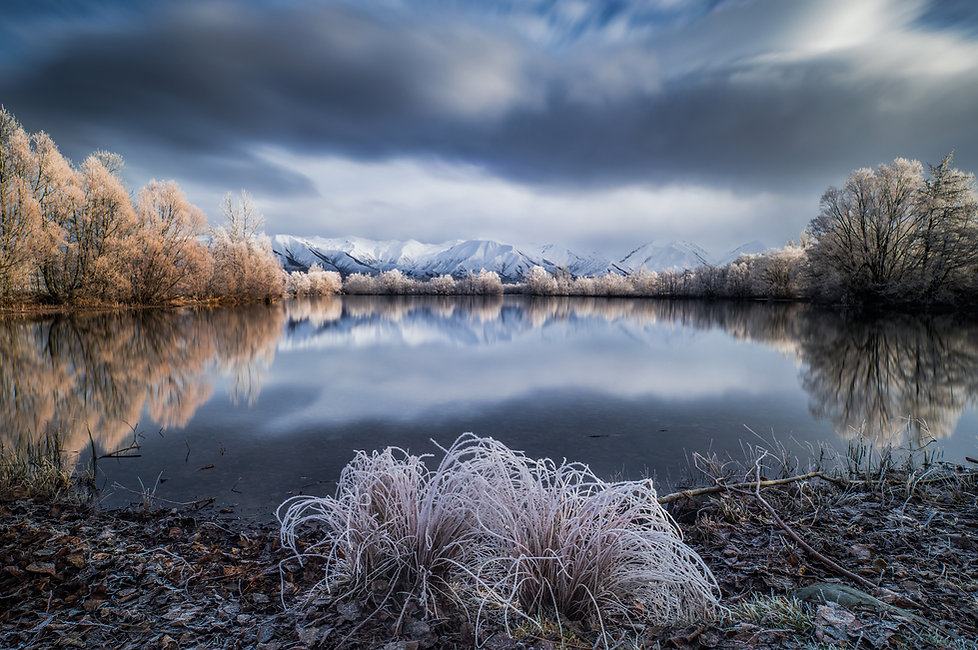 Twizel winter sunrise New Zealand