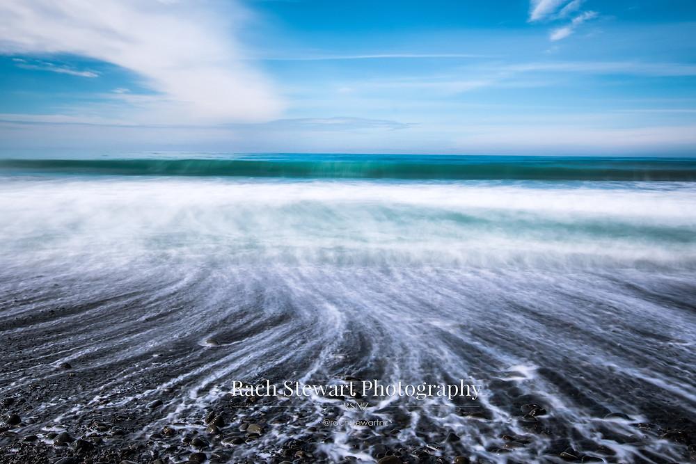 Waves and beach, Kaikoura