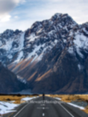 Tasman Lake Road New Zealand