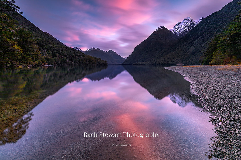 Lake Gunn sunset Fiordland