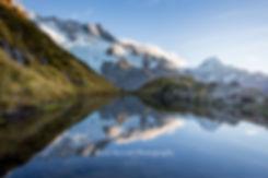 Sealy Tarns Mount Cook sunrise
