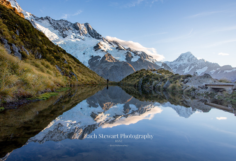 Sealy Tarns Mount Cook sunrise