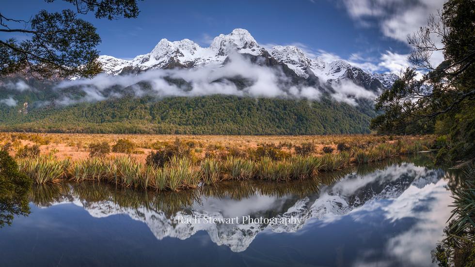Mirror Lakes Fiordland Panorama
