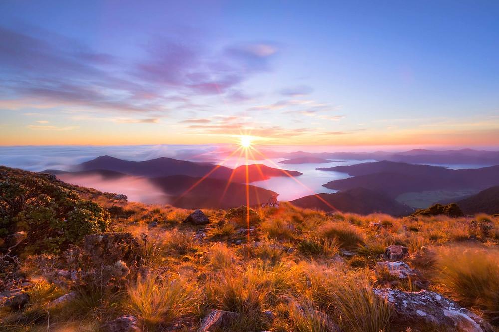 Mount Stokes Marlborough Sunrise