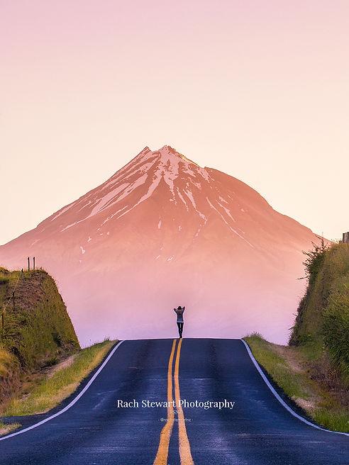 Road to Mount Taranaki