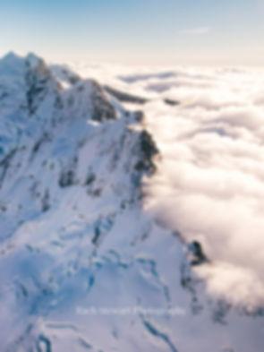 Mount Cook aerial new zealand
