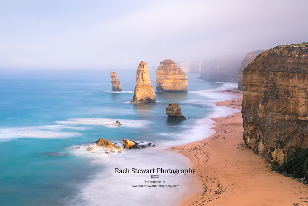Daybreak lights up the 12 Apostles as viewed from the lookout