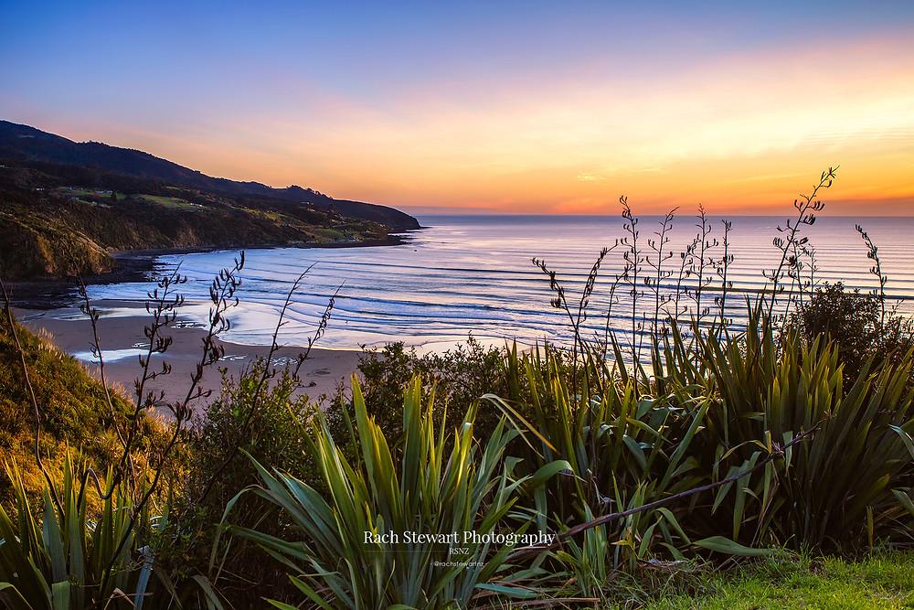 Raglan sunset from Wainui Reserve, Waikato