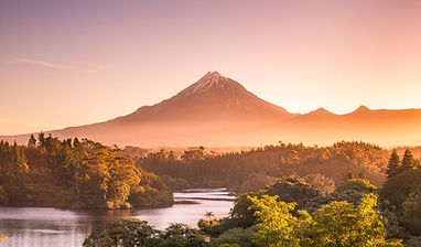 Mount Taranaki Sunset Lake