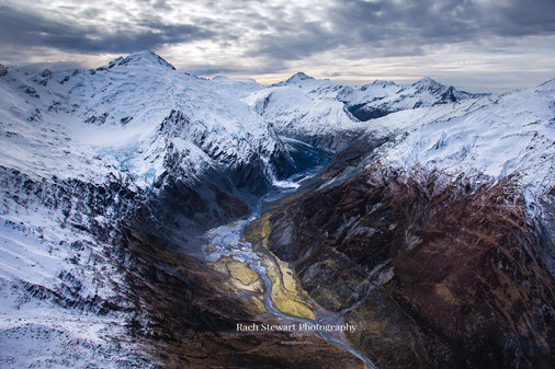 Mountain aerial Southern Alps