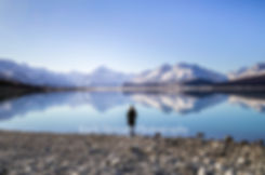 Lake Pukaki Mount Cook reflection