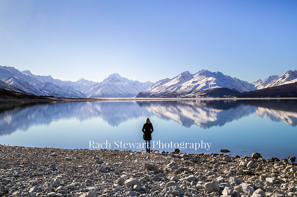 Lake Pukaki Mount Cook reflection
