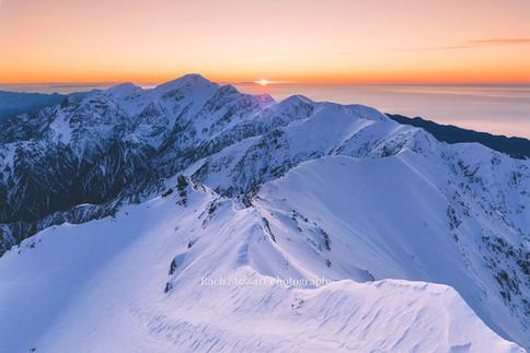 Kaikoura Range sunrise
