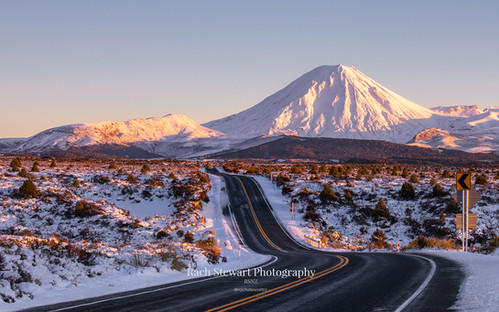 Desert Road Winter Sunrise