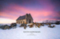 Church of the Good Shepherd sunset winter