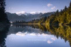 Lake Matheson reflection summer