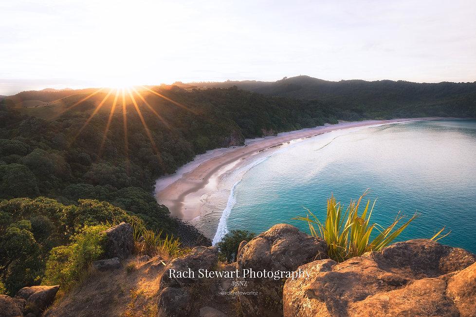 New Chums Beach sunset Coromandel