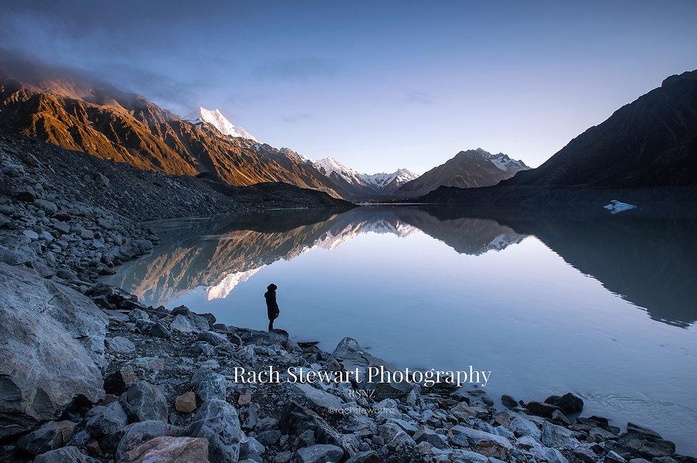 Tasman Lake sunrise summer