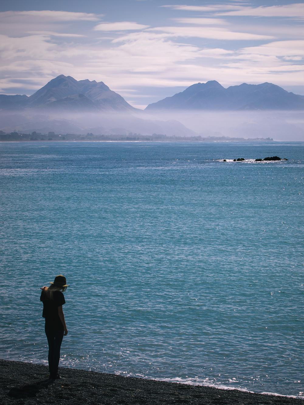 Kaikoura foreshore. Photo credit William Patino