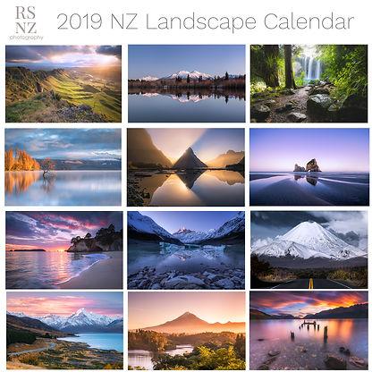 2019 New Zealand Landscape Calendar Rach Stewart