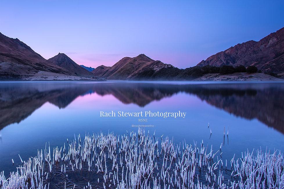 Moke Lake Queenstown sunrise frost