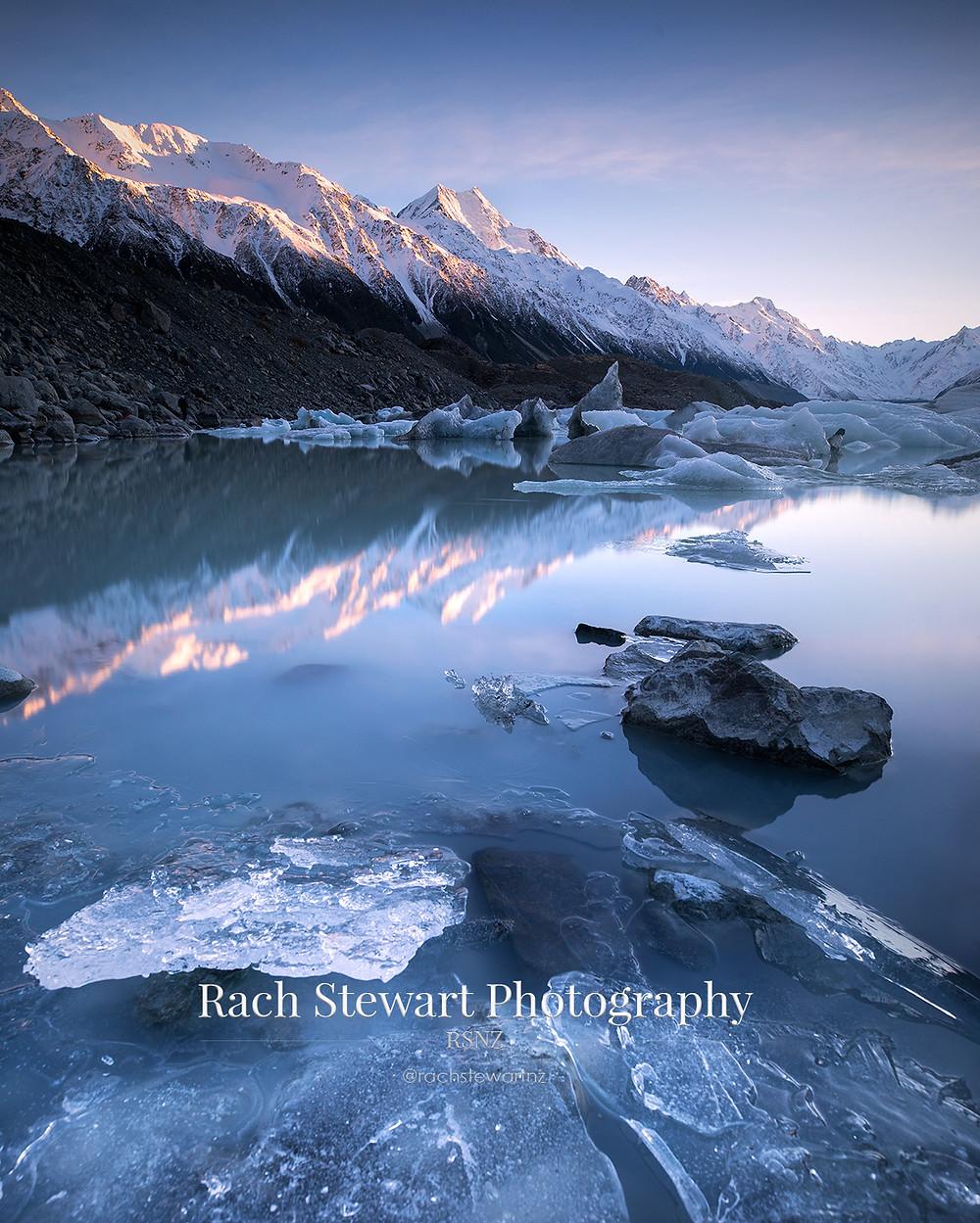 Tasman Lake Mount Cook New Zealand