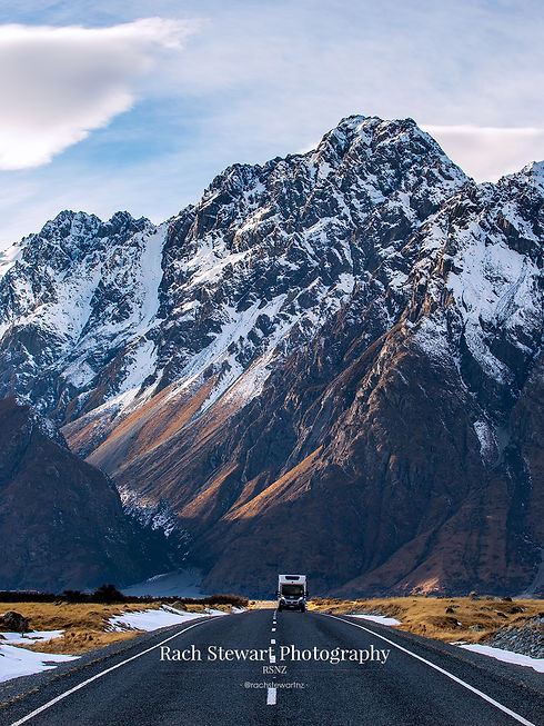 Tasman Lake Road Mountain Campervan