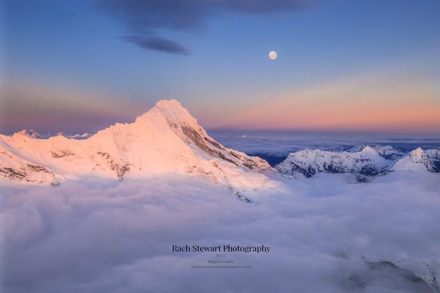 Mount Aspiring Moon