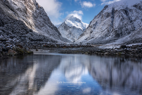 Milford Sound Road Winter Reflection