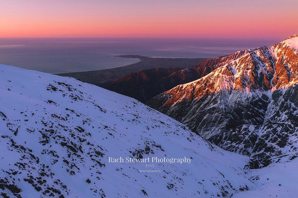 Kaikoura sunrise aerial